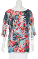 Erdem Silk Floral Print Blouse