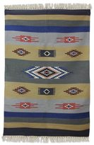 Novica Handcrafted Wool 'Symphony of Dawn' Dhurrie Rug 4x6 (India)