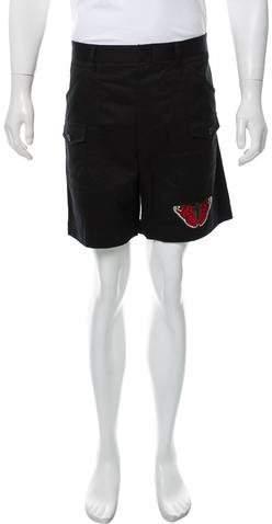Gucci 2016 Butterfly Appliqué Shorts