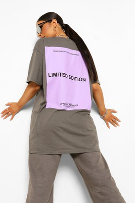 boohoo Oversized Limited Edition Back Print T-shirt
