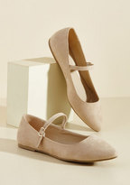 ModCloth All You've Ever Jaunted Mary Jane Flat in Beige in 9