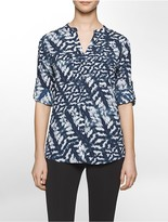 Calvin Klein Sublimated Floral Print Utility Top