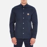 Carhartt Long Sleeve Tony Shirt Navy Rigid