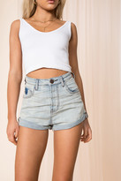 One Teaspoon Bandits High Waist Denim Short