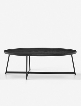 Lulu & Georgia Gweneth Oval Coffee Table, Black Ash