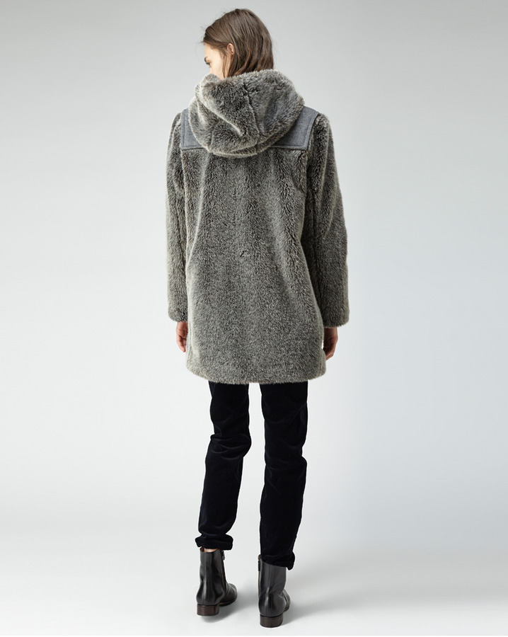 A.P.C. fur duffel coat