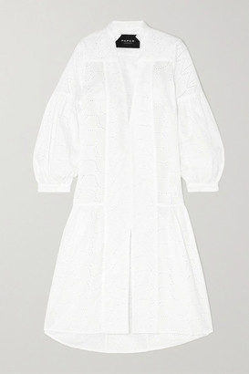 Paper London Broderie Anglaise Cotton Midi Dress - White