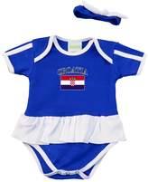 PAM baby girl Croatia soccer Ruffled bodysuit