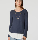 LOFT Chunky Two-In-One Sweater