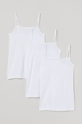 H&M 3-pack Camisole Tops - White