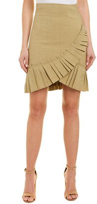 Isabel Marant Linen-Blend Pleated Skirt