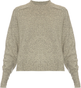 Isabel Marant Round-neck long-sleeved wool-blend sweater