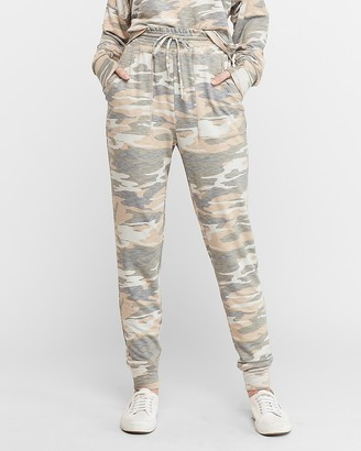 Express High Waisted Marled Camo Jogger Pant