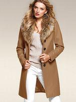 Victoria's Secret Faux-fur Collar Coat