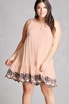 Forever 21 FOREVER 21+ Tassels N Lace Swing Dress