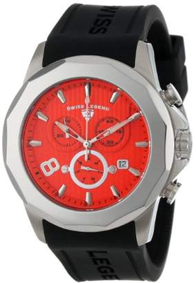 Swiss Legend Men's 10042-06 Monte Carlo Chronograph Textured Dial Black Silicone Watch