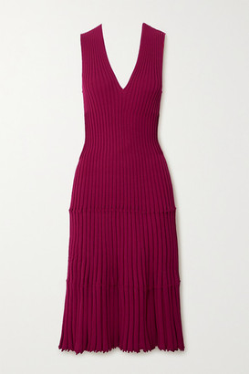 Altuzarra Riggs Ribbed-knit Dress - Magenta