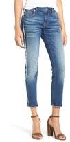 Vigoss Women's Thompson Frayed Crop Tomboy Jeans