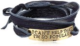 "Alisa Michelle Mean Girls"" Official Movie I Am So Popular Stamped Silk Wrap Bracelet, 28.0''"