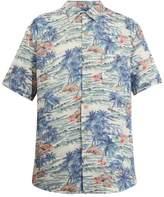 Faherty Short-sleeve Hawaiian-print shirt