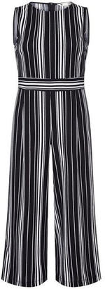 Yumi Curves Stripe Plius Size Stretch Jumpsuit