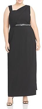 Adrianna Papell Asymmetrical Column Gown