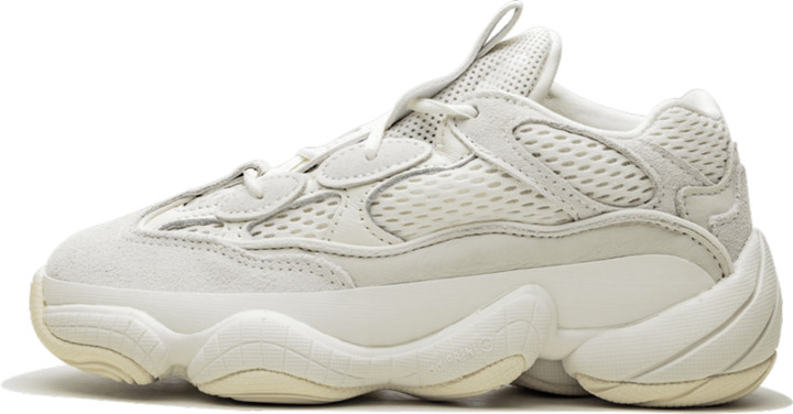 Adidas Yeezy 500 Kids 'Bone White' Shoes - Size 1Y