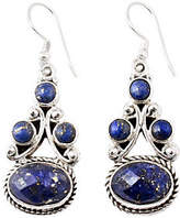 Novica Artisan Crafted Sterling Lapis Drop Earrings