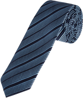 Oxford Silk Tie Grid/Stripe Reg X