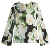 ADAM by Adam Lippes Long-sleeved floral-print satin top