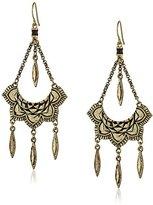 The Sak Engraved Trapeze Drop Earrings