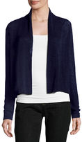 Eileen Fisher Polished Linen-Blend Cropped Cardigan