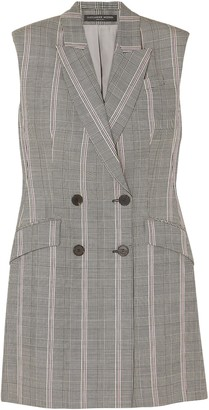 Alexander McQueen Prince Of Wales Checked Wool Mini Dress