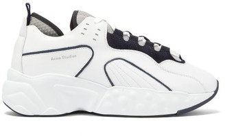 Acne Studios Rockaway Leather Trainers - Mens - White Black