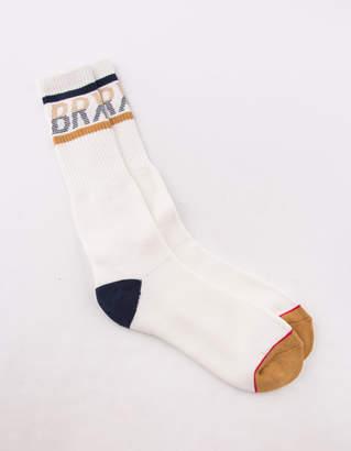 Brixton Tread White Mens Crew Socks
