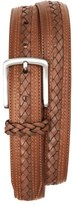 Tommy Bahama Men's Braided Inlay Leather Belt