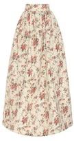 Miu Miu Printed Silk-moiré Skirt