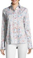Robert Graham Priscilla Leopard Print Button-Down Shirt