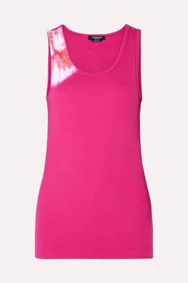 Calvin Klein Tie-dyed Stretch-cotton Tank - Pink