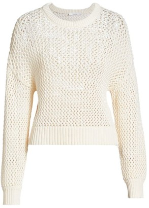 Frame Open Knit Crewneck Sweater