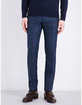 Paul Smith Checked Slim-fit Mid-rise Trousers