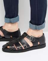 Red Tape Gladiator Sandals In Black