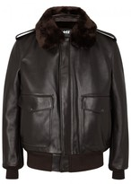Schott Nyc A-2 Brown Leather Bomber Jacket