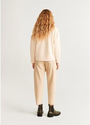 MANGO Funnel Neck Sweater - Light Brown