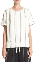 DKNY Women's Paneled Shirt With Inside Drawstring