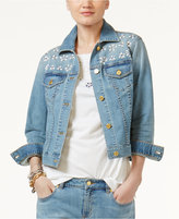 MICHAEL Michael Kors Embellished Denim Jacket
