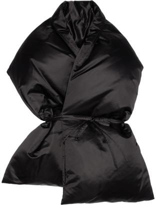 MM6 MAISON MARGIELA Black Oversized Puffer Scarf