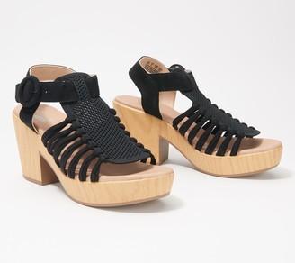Dr. Scholl's Knit Platform Sandals - Beach Front