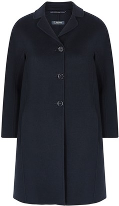 S Max Mara 'S Max Mara Paris Navy Wool Coat