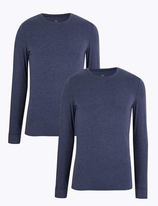 Marks and Spencer 2 Pack Heatgen Thermal Long Sleeve Vests